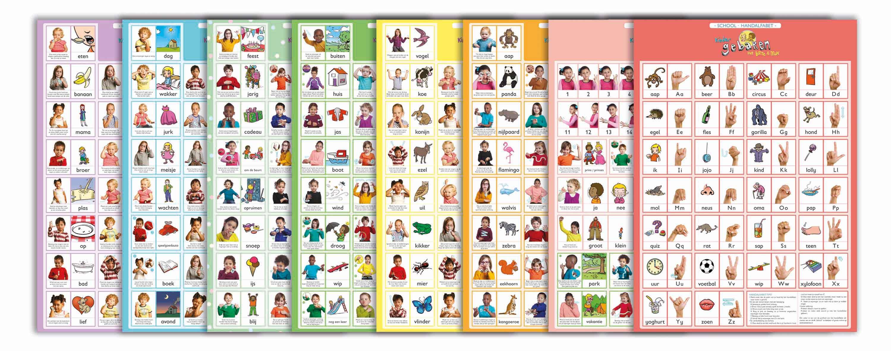 De Lotte En Max Posterset Bevat 9 Posters Met Alle Gebaren