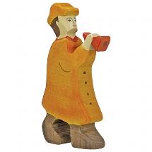 Holztiger herder met fluit (80291)