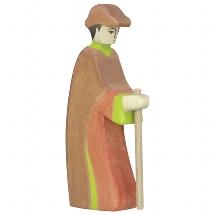 Holztiger herder met staf (80316)