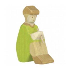 Holztiger herder met fluit (80317)