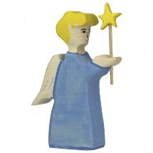 Holztiger engel met ster (80288)