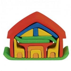 Gluckskafer poppenhuis rood/blauw (523266)