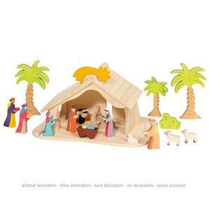Holztiger kerststal (80348)