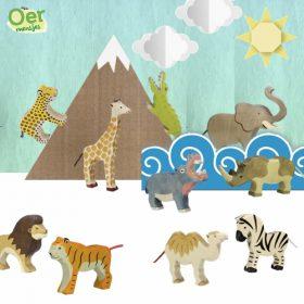 Holztiger voordeelset dierentuindieren