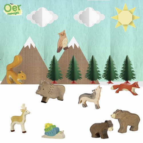 Holztiger voordeelset bosdieren