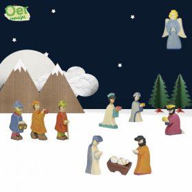 Holztiger kerststal voordeelsets