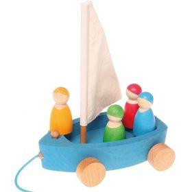 grimms zeilboot met vier vriendjes