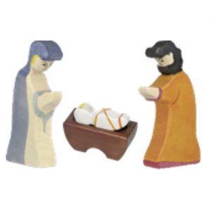 Houten kerststal figuren