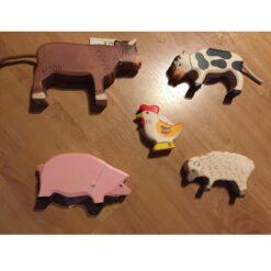 Holztiger voordeelset boerderijdieren - voorbeeld