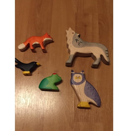 Holztiger voordeelset bosdieren - voorbeeld