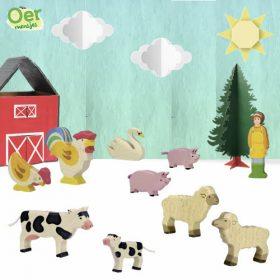 Holztiger voordeelset boerderijdieren