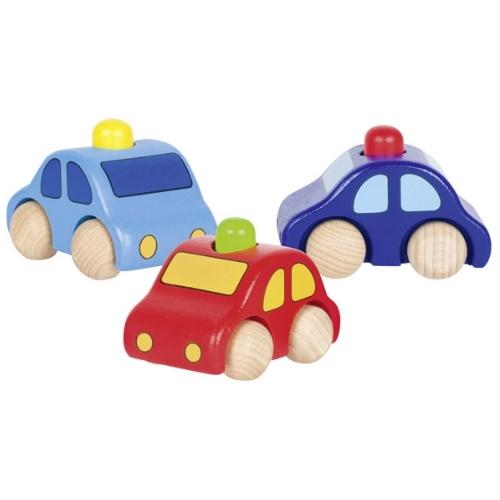 Goki houten auto met toeter