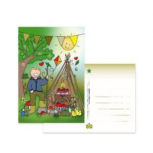 Ansichtkaart Buitenkind - Wendy de Boer/ Unieke Postkaarten