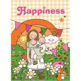Ansichtkaart Happiness - Unieke Postkaarten/ Wendy de Boer