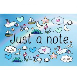 ansichtkaart just a note - Wendy de Boer/ Unieke Postkaarten