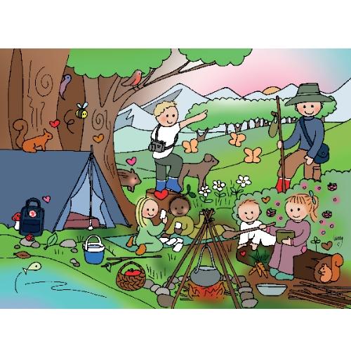Ansichtkaart Natuurkindjes - Unieke Postkaarten/ Wendy de Boer