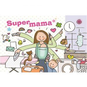 Ansichtkaart Supermama - Unieke Postkaarten/ Wendy de Boer