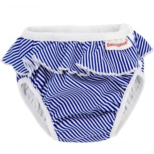 Wasbare zwemluier white/blue stripes