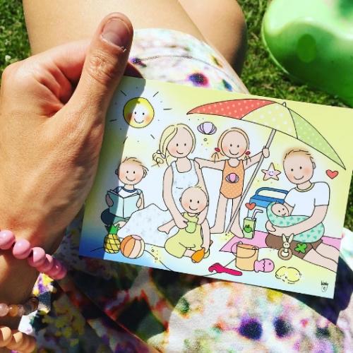 Ansichtkaart Zomer - Unieke Postkaarten/ Wendy de Boer