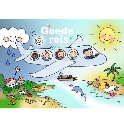 Ansichtkaart Goede reis - Unieke Postkaarten/ Wendy de Boer