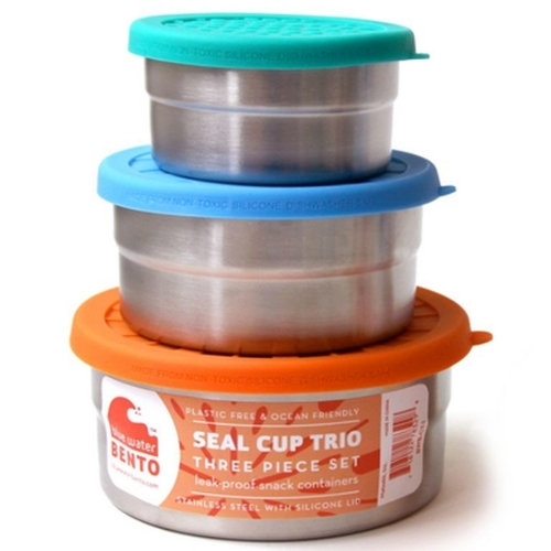eco seal cup trio - blue water bento