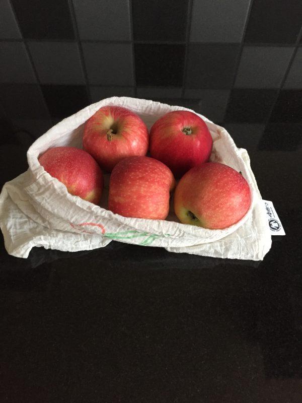 Nowasteweek - herbruikbare fruitzakken