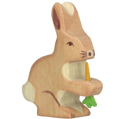 Holztiger haas met wortel (80102)