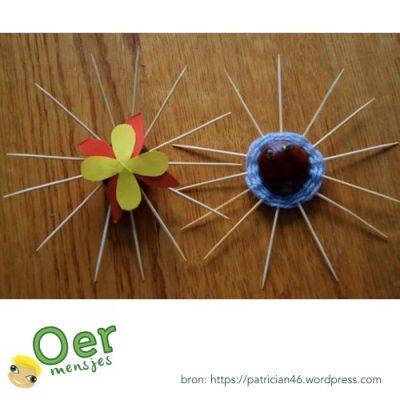 herfst figuur maken spinnenweb kastanje