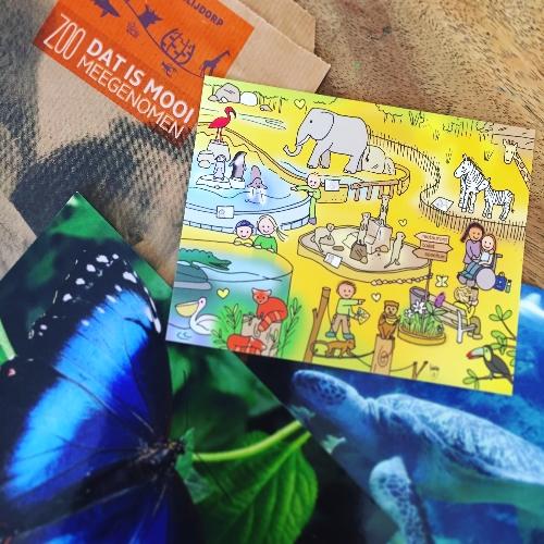 Ansichtkaart Dierentuin