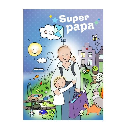 Ansichtkaart Super papa