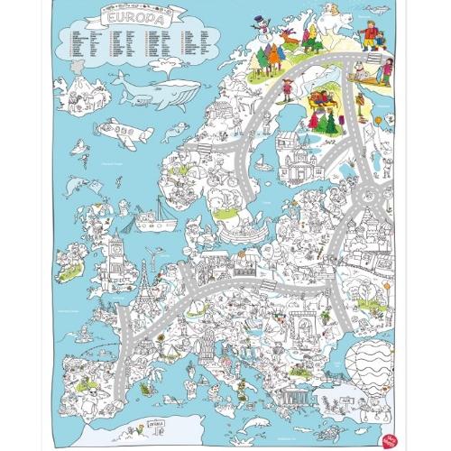 Kleurplaten Europa.Very Mappy Xxl Kleurplaat Europa
