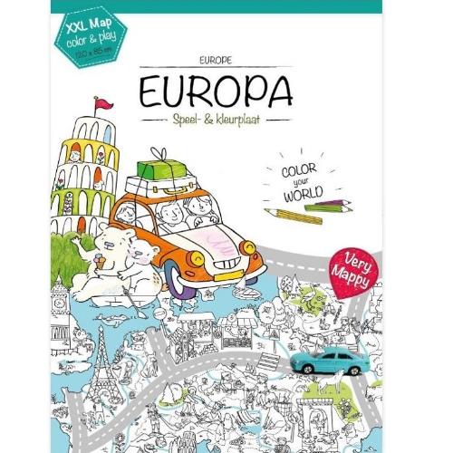 Kleurplaten Van Europa.Very Mappy Xxl Kleurplaat Europa
