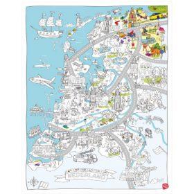 Very Mappy XXL kleurplaat Nederland