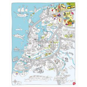 Kleurplaten Xxl.Very Mappy Xxl Kleurplaat Nederland Een Kleurplaat Van 120 X 85 Cm