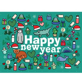 Ansichtkaart Happy new year