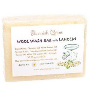 Sheepish Grins wolwaszeep met lanoline