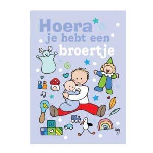 Ansichtkaart Jongen met broertje- Wendy de Boer/ Unieke Postkaarten