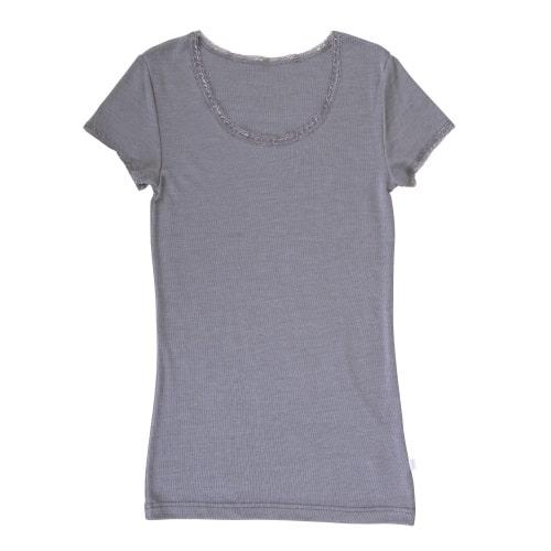Joha T-shirt (vrouwen) (wol/zijde) - grijs