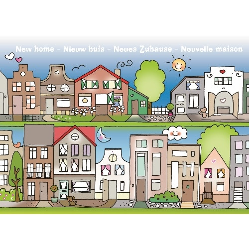 Ansichtkaart Nieuw huis - Wendy de Boer/ Unieke Postkaarten
