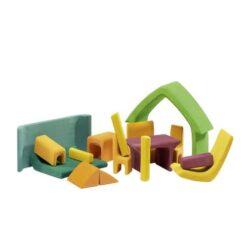 Gluckskafer poppenhuis geel/groen