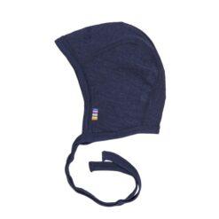 Joha strikmutsjes (wol/zijde) - marine blauw