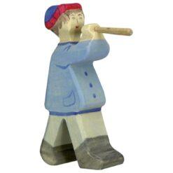 Holztiger herder met fluit (80304)