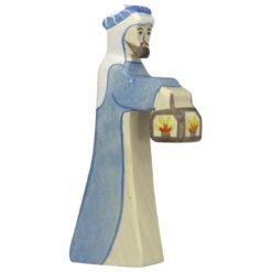 Holztiger herder met lamp (80303)