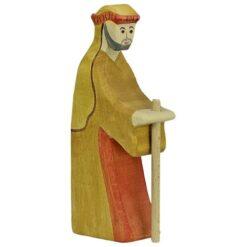 Holztiger herder met staf (80302)