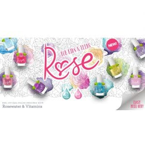 Rose peel-off nagellak