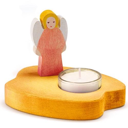 Ostheimer theelicht met engel - rood