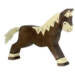 Holztiger paard (rennend) (80034)