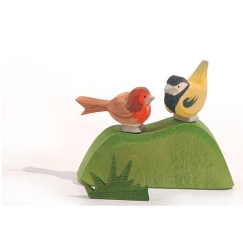 Ostheimer struik met vogeltjes