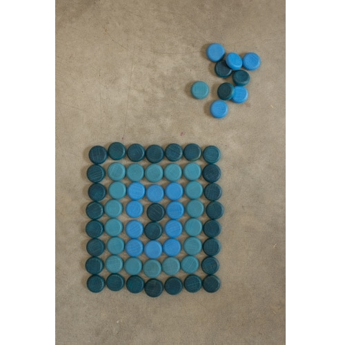 Grapat mandala houten munten (18-198)