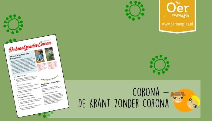 krant zonder corona